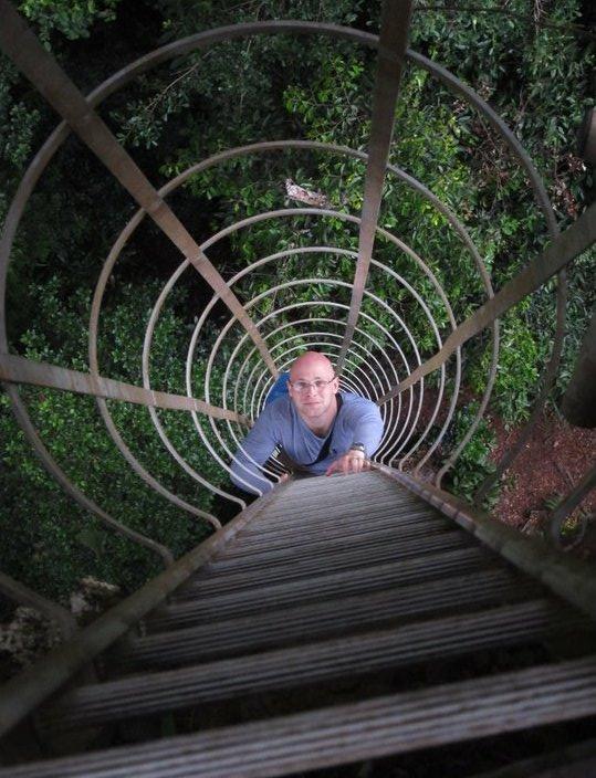 climbing ladder in maliau
