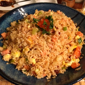 Xo Sauce Cured Salmon Fried Rice, from my anniversary tasting menu (see link above)