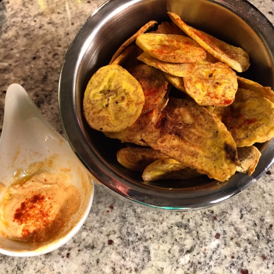 Tostones with paprika mayo